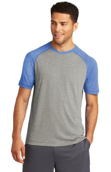 Sport-Tek ST400 True Royal Heather / Light Gray Heather