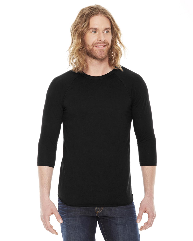 American Apparel Womens Poly-Cotton 3//4 Sleeve Raglan T-shirt BB453W