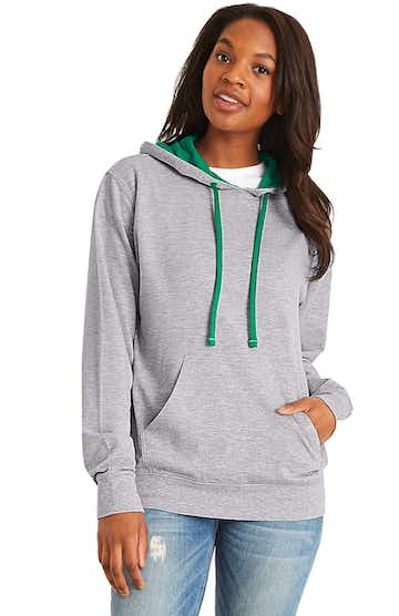 Next Level 9301 Heather Gray / Kelly Green