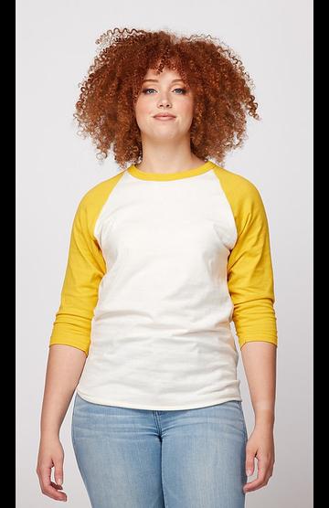 Tultex 0245TC Vintage White/Mellow Yellow