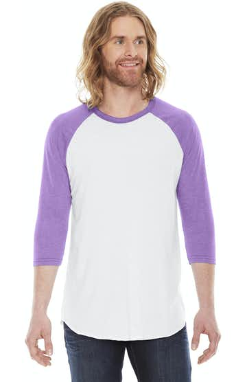 American Apparel BB453W White/ Orchid