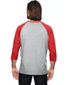 Anvil 6755 Heather Grey/Heather Red