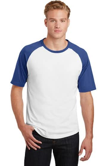 Sport-Tek T201 White / Royal