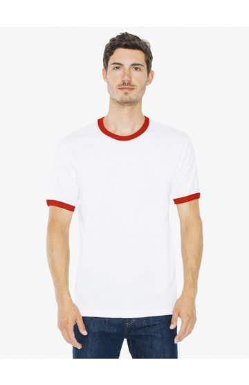 American Apparel 2410W White / Red