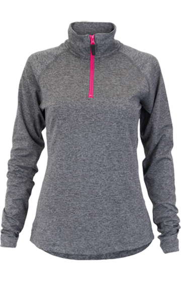 Soffe S2995VP Gray Heather / Neon Pink