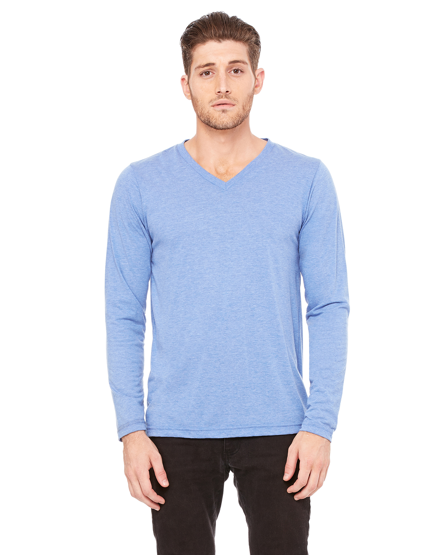 297318568 Bella+Canvas 3425 Unisex Jersey Long-Sleeve V-Neck T-Shirt ...