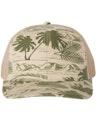 Richardson 112P Island Print Loden/ Khaki