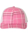 Richardson 112P Plaid Print Hot Pink/ Black/ White