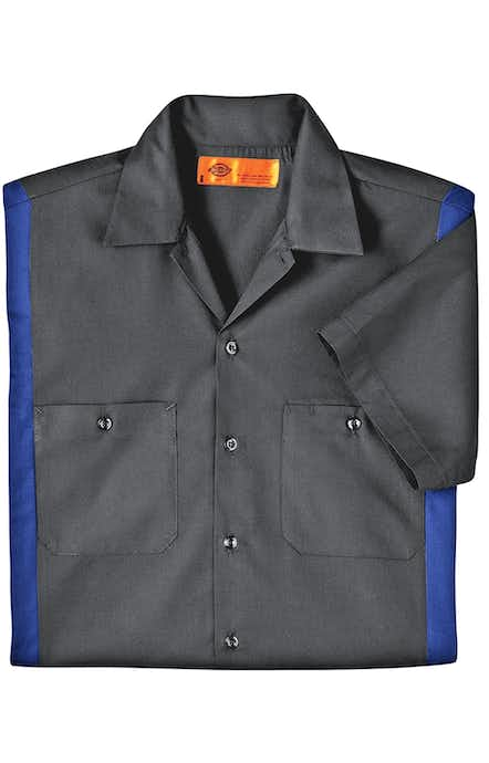 Dickies LS524 Charcoal/Royal Blue