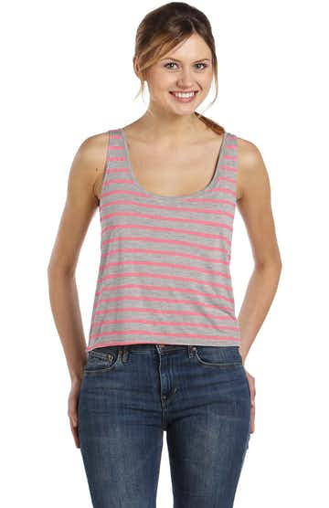 Bella + Canvas 8880 Heather Athletic / Neon Pink