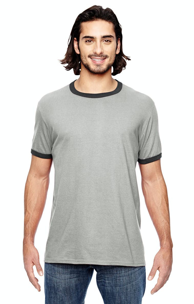 d8f9e25db Anvil 988AN Adult Lightweight Ringer T-Shirt - JiffyShirts.com