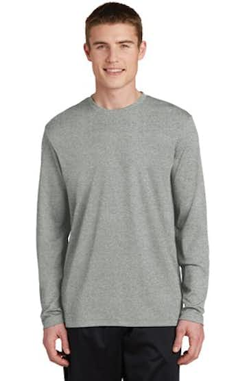 Sport-Tek ST340LS Gray Heather