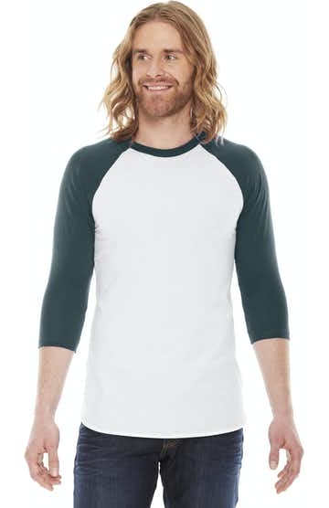 American Apparel BB453 White/Forest