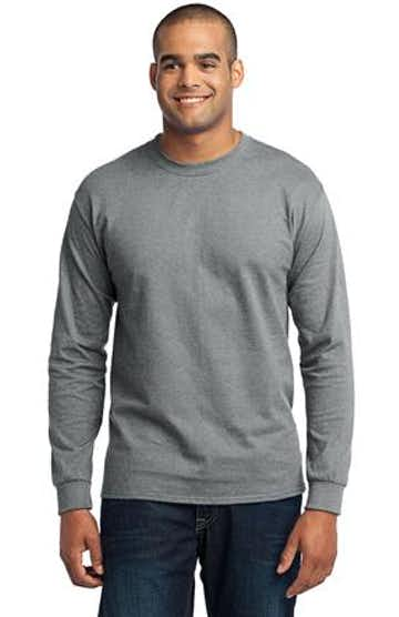 Port & Company PC55LS Athletic Heather