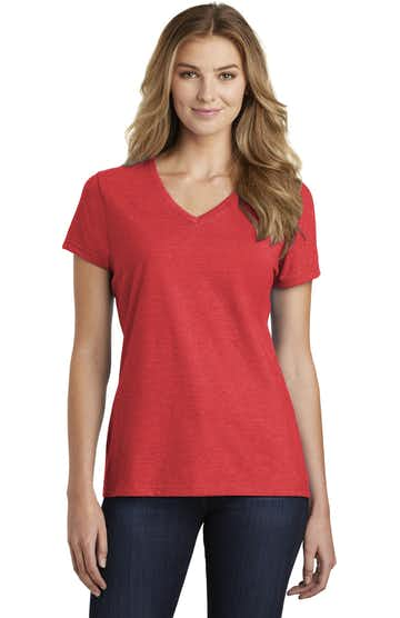 Port & Company LPC455V Bright Red Heather