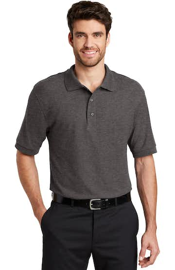 Port Authority K500ES Charcoal Heather Gray