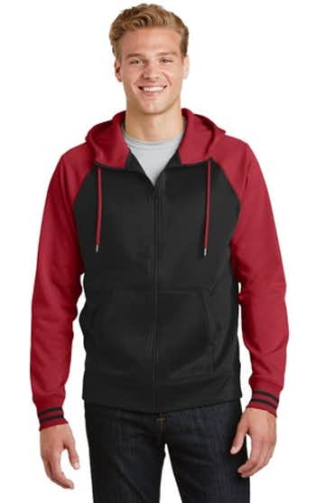 Sport-Tek ST236 Black / Deep Red