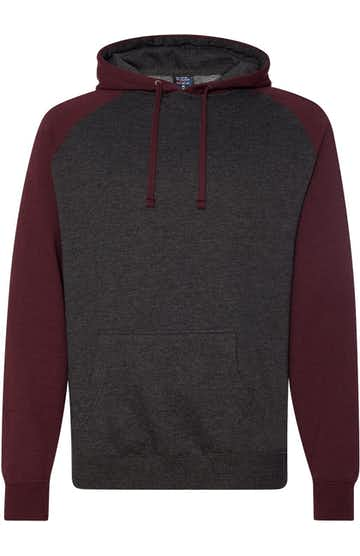 Independent Trading IND40RPJ1 Charcoal Heather / Burgundy Heather