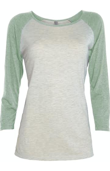 Platinum P508T Oatmeal Heather / Sea Green Heat