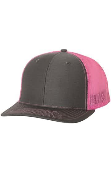 Richardson 112 Charcoal / Neon Pink