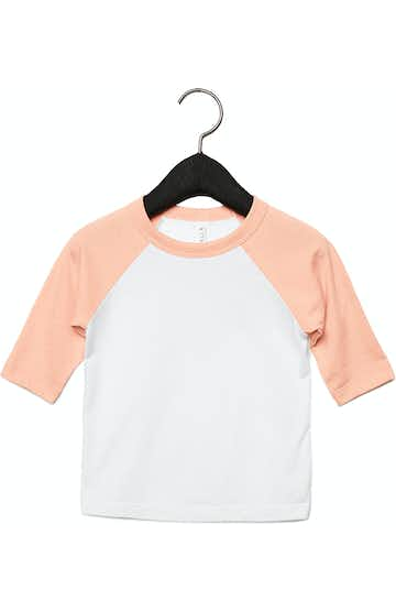 Bella + Canvas 3200T White / Heather Peach