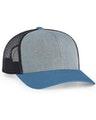 Pacific Headwear 0104PH Heathergrey/Ltcharcoal/Oceanbl