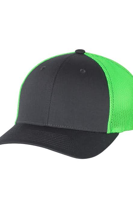 Richardson 110 Charcoal/ Neon Green