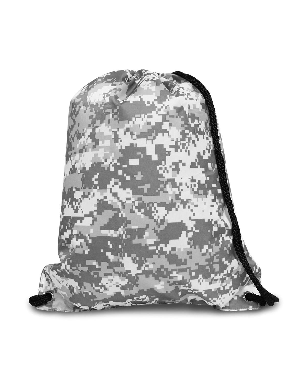 Liberty Pizza White Camo Drawstring bag
