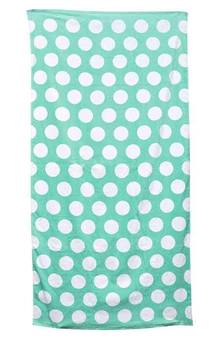 Carmel Towel Company C3060 Lt Grn Polka Dot