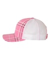 Richardson 112P Plaid Print Hot Pink/ Black/ White