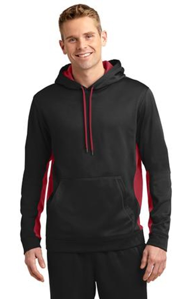 Sport-Tek ST235 Black / Deep Red