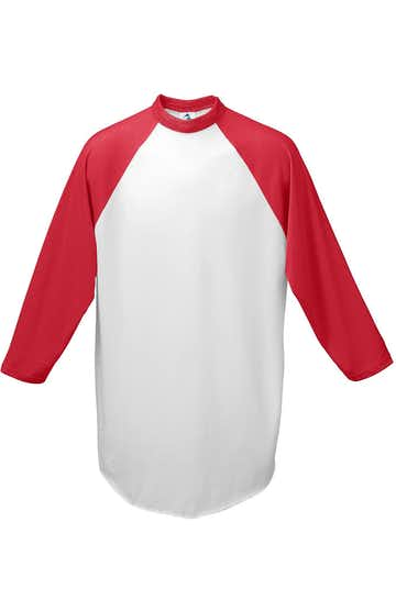 Augusta Sportswear 4421 White/ Red