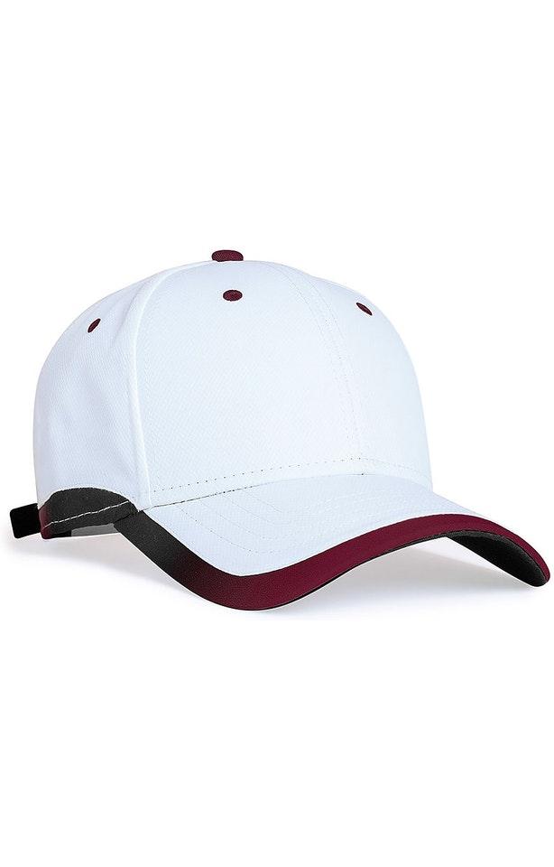 Pacific Headwear 0416PH White/Maroon