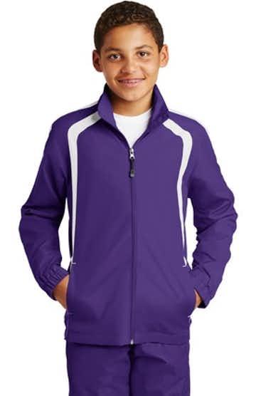 Sport-Tek YST60 Purple / White