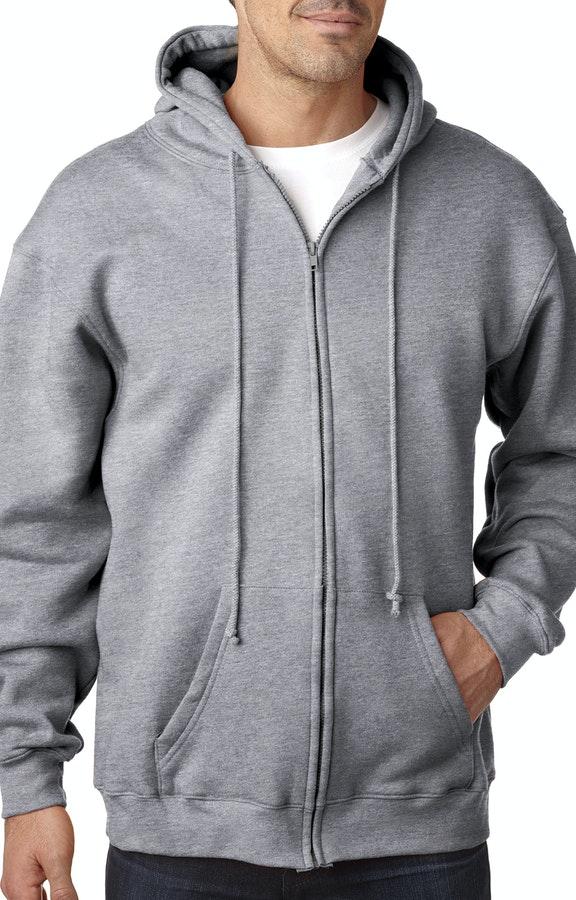 7f7096d53 Bayside BA900 Dark Ash Adult 9.5oz., 80% cotton/20% polyester Full-Zip  Hooded Sweatshirt