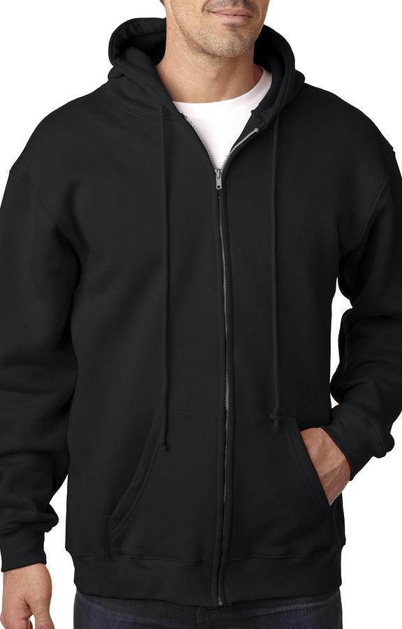 25a8f46ed Bayside BA900 Black Adult 9.5oz., 80% cotton/20% polyester Full-Zip Hooded  Sweatshirt
