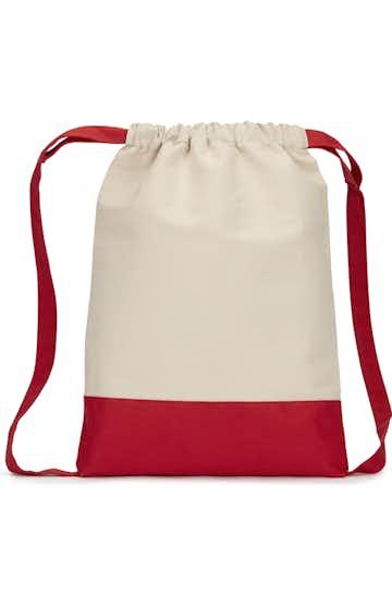 Liberty Bags 8876 Natural/ Red