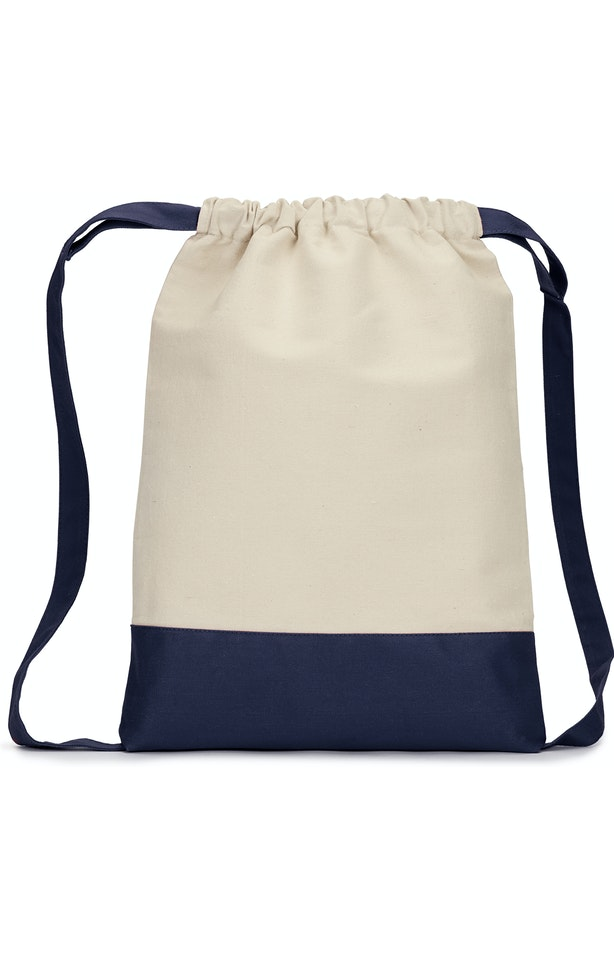 Liberty Bags 8876 Natural/ Navy