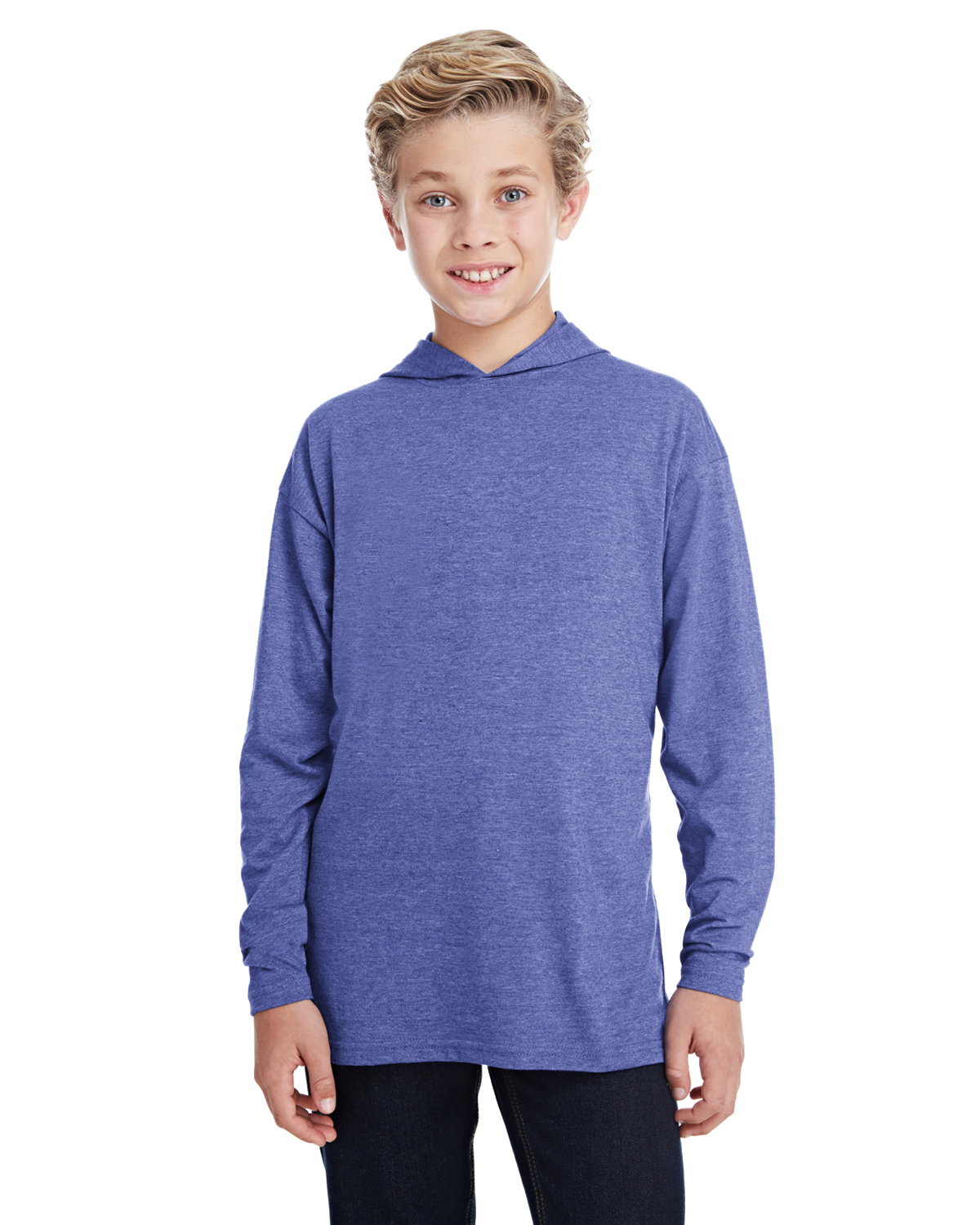 Anvil Youth Boys and Girls Long Sleeve Hooded T-Shirt 987B