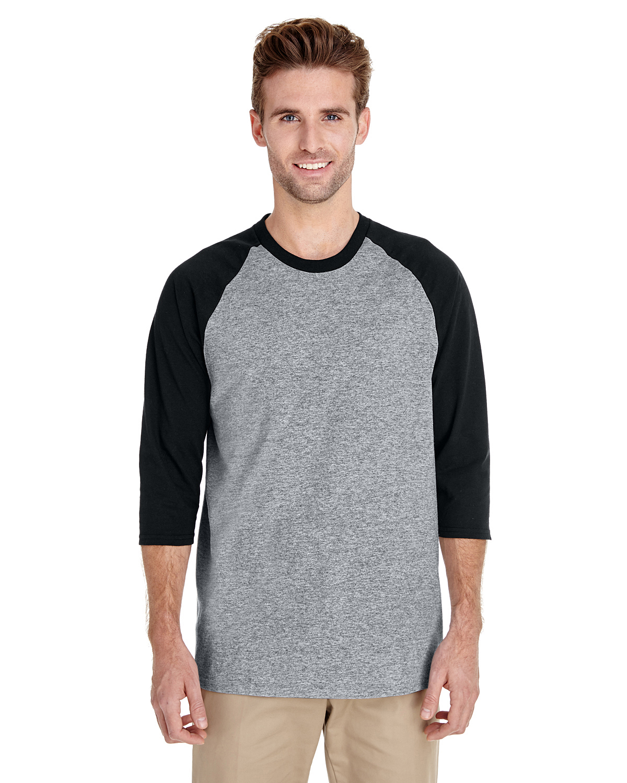 1587634f Gildan G570 Adult Heavy Cotton™ 5.3 oz. 3/4-Raglan Sleeve T-Shirt ...
