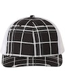 Richardson 112P Plaid Print Black/ Charcoal/ White