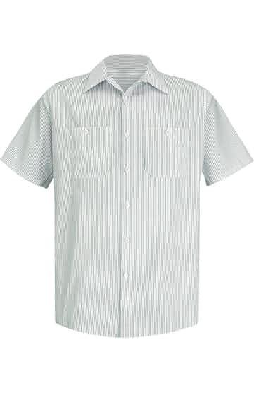 Red Kap SP20 Gw - White / Green Stripe