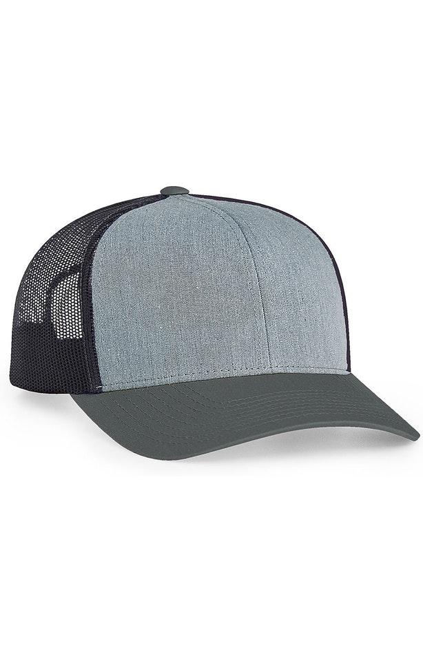 Pacific Headwear 0104PH Heathergrey/Ltcharcoal/Ltcharc