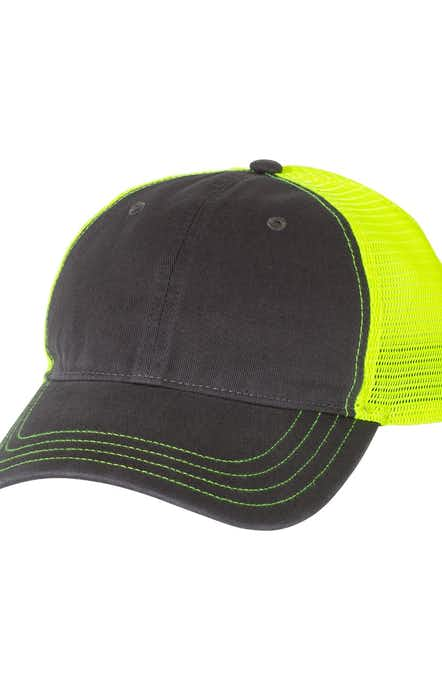 Richardson 111 Charcoal/ Neon Yellow