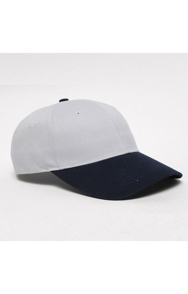 Pacific Headwear 0101PH Silver/Navy