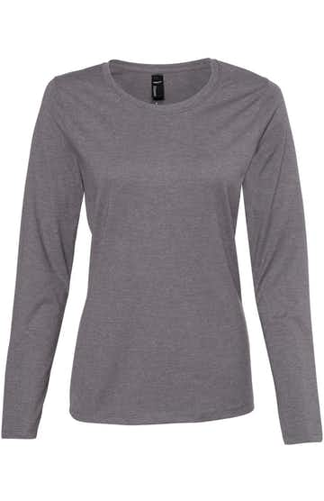 Hanes S04LS Charcoal Heather