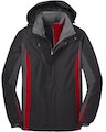 Port Authority J321 Black / Mag Gray / Red