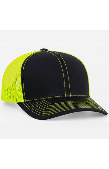 Pacific Headwear 0104PH Black/Neon Yellow